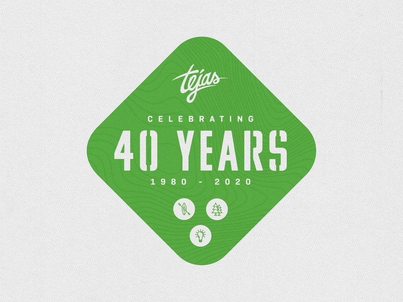 Tejas 40 Years Logo church design camp logo design logo badge logo brand and identity typography branding