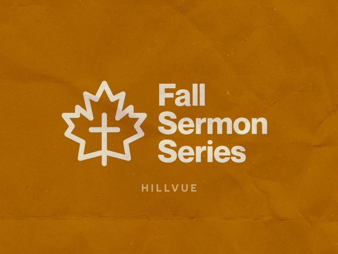 Fall Sermon Series sermon series brand design logo logotype fall texture church marketing church design church logo leaf logo brand and identity typography branding