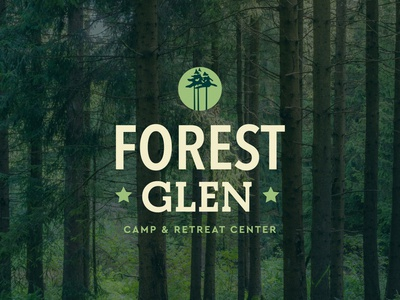 Forest Glen badge logo logotype camp identity church design camp logo camp logo design brand and identity typography branding