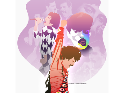 Freddie Mercury artwork illustration vectors queen graphic design design illustrator vector illustration fashion freddie vector freddie mercury