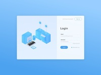 Login Page + Isometric Art