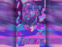 Hello Dribbble! First shot ft. Lebron James