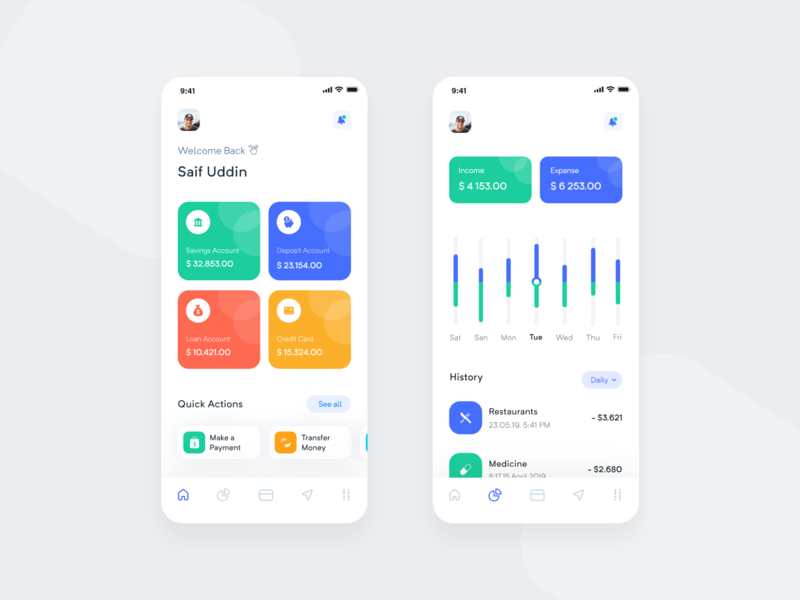 Bank App Design finance transfar static minimal app ux ios app app concept app  design design app ui app uiux ui transaction history bank app banking app