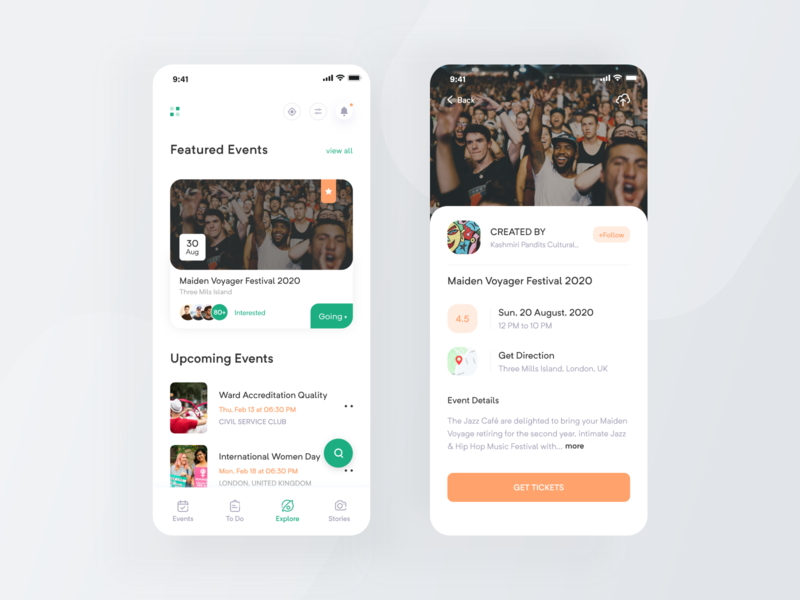 Events ios App app booking page pirty event booking app events app event finder app task management events event app app home page app ui design minimal app app ui design app  design ux app concept ios app app