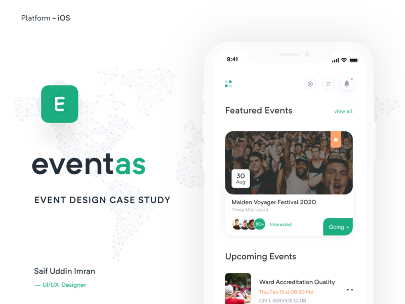 Event App Case Study minimal app app ui design app  design app concept ios app ux imran event finder app event booking app event app event app case study app case study app