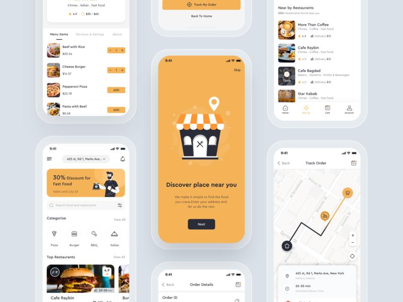 Foodly food delivery app mobile app design uiux food delivery mobile app delivery app case study food app app  design imran minimal app app ui design app concept app ios app ux