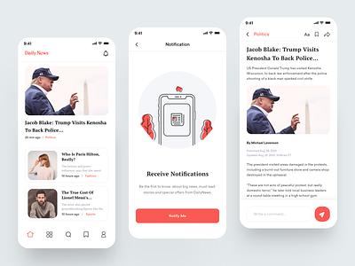 Newspaper Mobile App news application mobile app design news mobile app navigation newspaper app app home page app ui design minimal app design imran app concept ios app app ux
