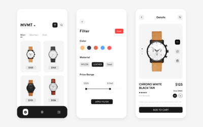 Watch Store App Concept