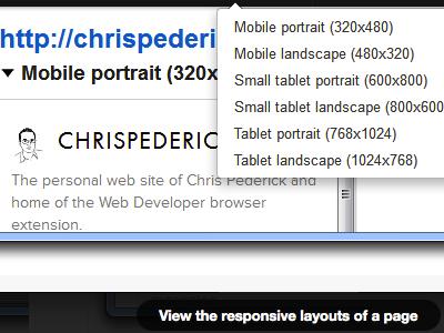 Web Developer beta download page extension firefox chrome