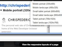 Web Developer beta download page