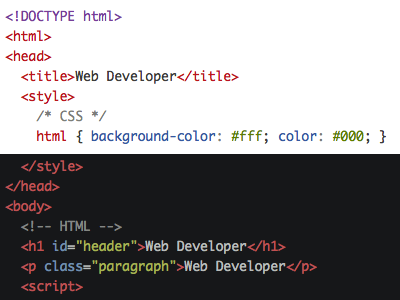 Updated syntax highlighting colors in Web Developer extension firefox chrome syntax highlighting