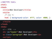 Updated syntax highlighting colors in Web Developer