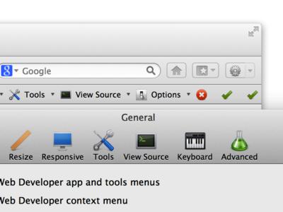 Retina support in Web Developer for Firefox extension firefox retina