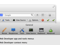 Retina support in Web Developer for Firefox