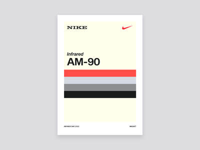 AM-90 color palette nike air max poster type sneakers design