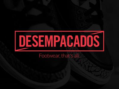 Desempacados logo branding identity blog box sneakers footwear