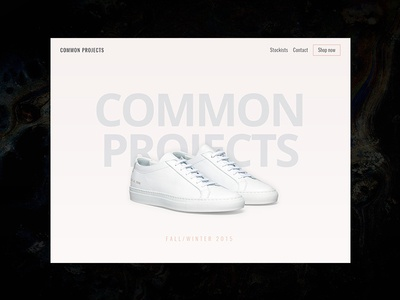 Above the fold sneakers design web landing page interface ui daily ui