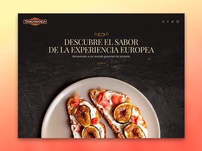 Tangamanga food abovethefold design ui webdesign