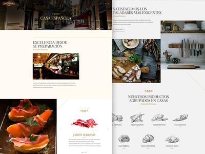 Tangamanga - Casa Española food design ui webdesign