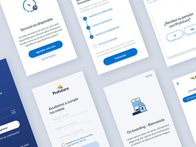 Préstamos Digitales onboarding ui login user inteface prototype app fintech ui design