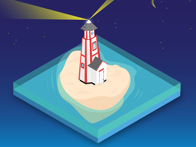 Lighthouse vectorartwork vector isometric design isometric art isometric illustration design flat architechture adobe illustrator