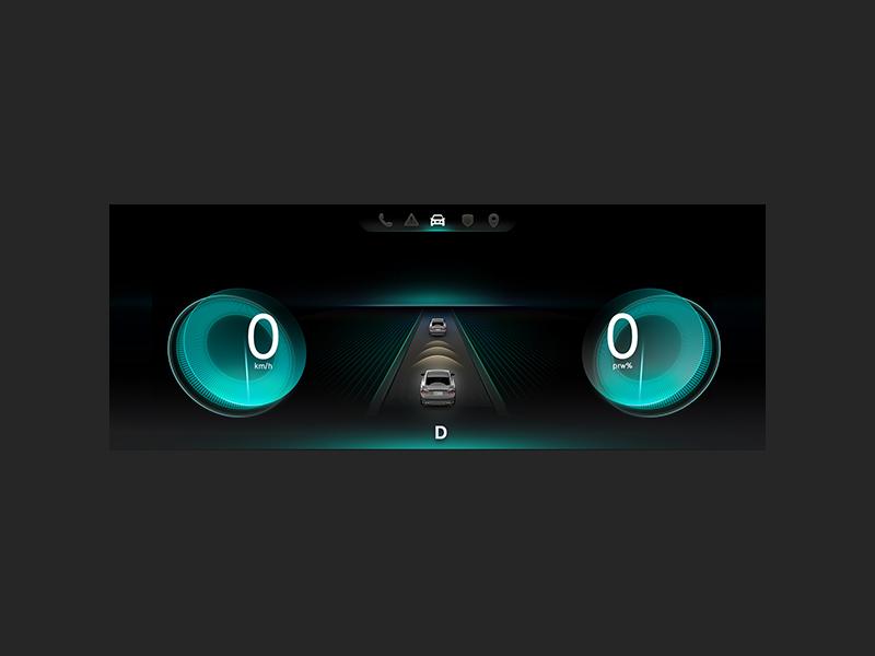 HMI product design ui car hmi