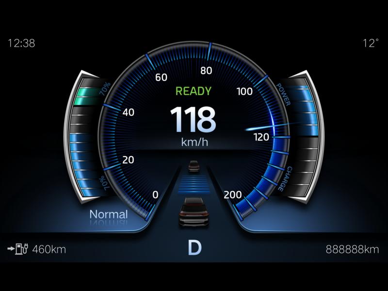 BEV  motormeter Normal design ui car hmi