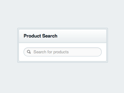 product search widget by james koster dribbble dribbble