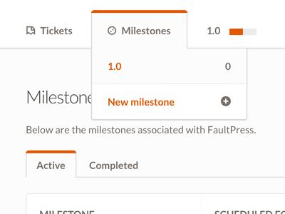 FaultPress sneak peek css navigation tabs faultpress dropdown