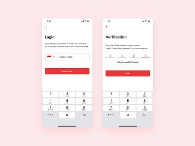 Login OTP - Verification Phone Number login menu sign in menu ui ux product design sign in otp login otp login app login ui