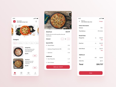 Food Delivery App app design ui ux ui design ui designer ui exploration food delivery app delivery app