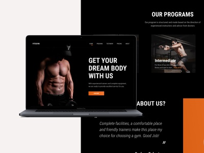 Fitness Landing Page website landing page workout gym workout landing page gym website gym landing page workout website fitness website fitness landing page fitness