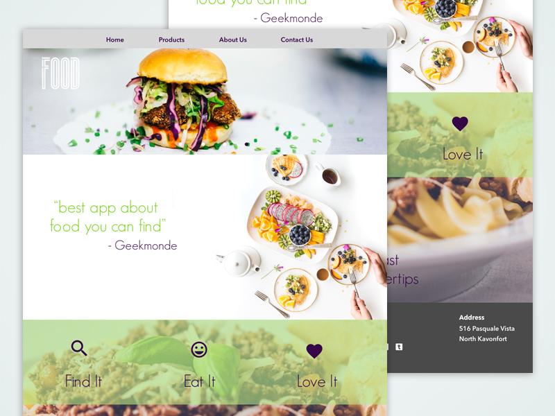 Foodwebmockup