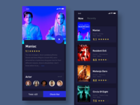 Movie App Interface Design Dark Theme