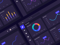 Dashboard Interface Design Dark Theme