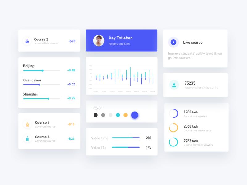 Dashboard Card design icon web ux ui