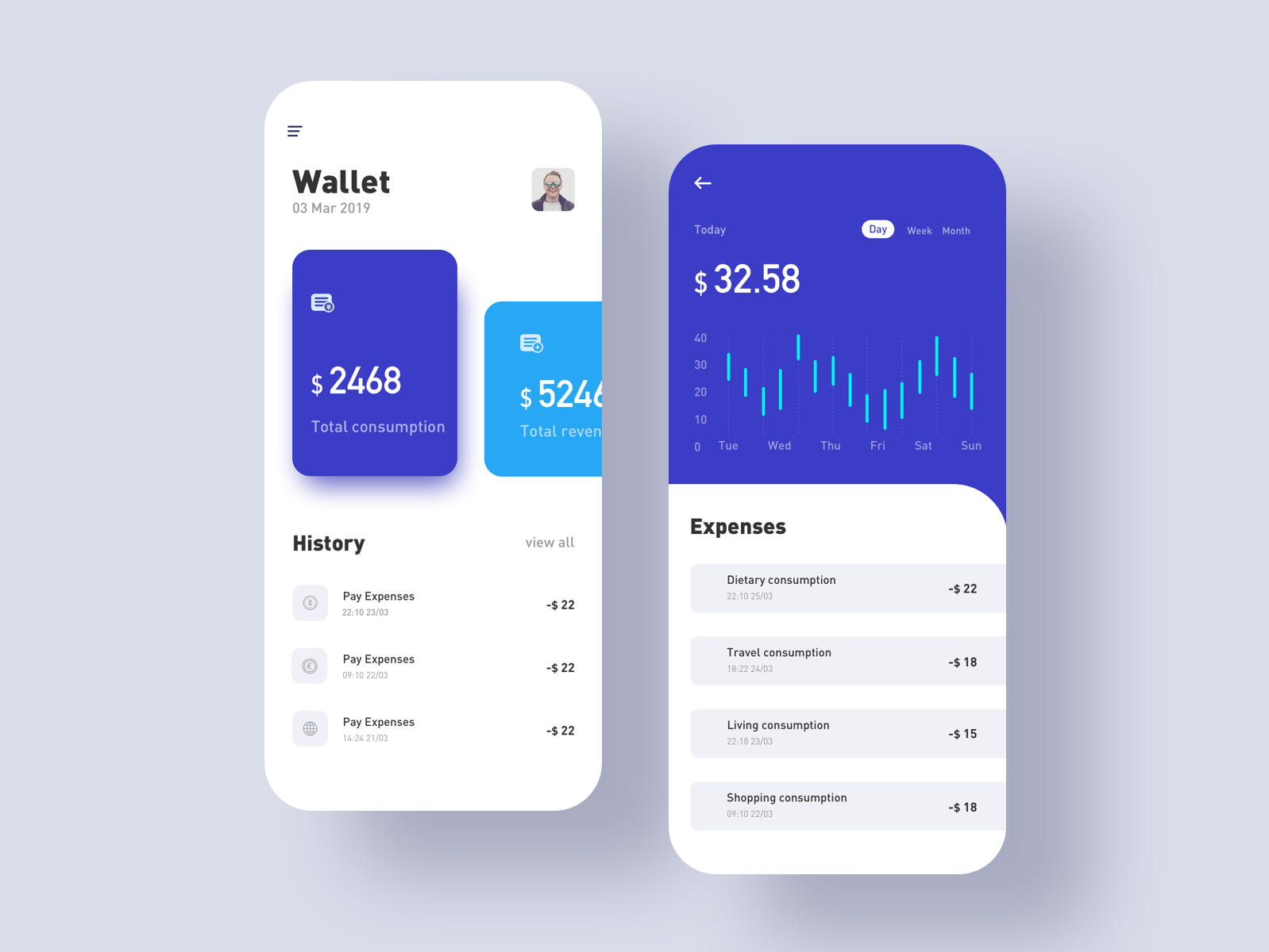 Financial Interface design app icon ux ui