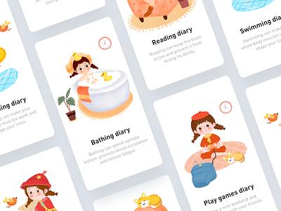 Girl's Life Diary 02 design illustration app ui