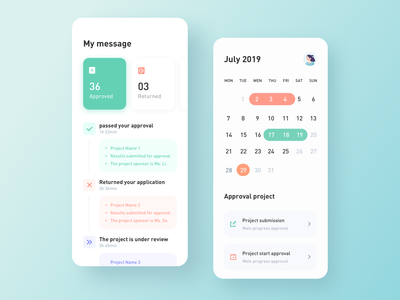Approval Message design icon app ux ui