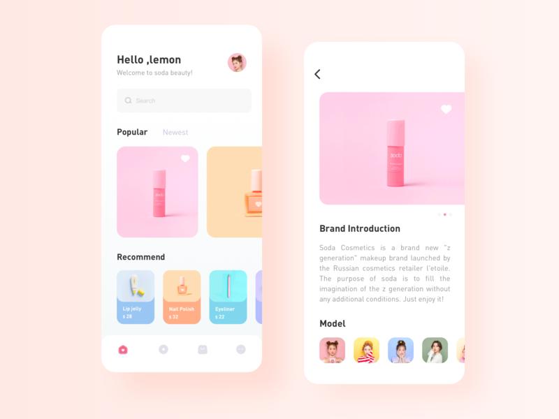 Summer Beauty design app icon ux ui