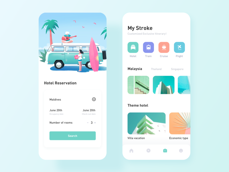 Travel App icon illustration design app ux ui