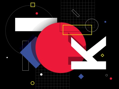 "first ""K"" from kalinka posters animation folows illustration vector geometric composition red animation 2d animated artdirection abstract posters kinetic animation motion aftereffects"
