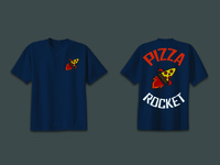 Pizza Rocket T-Shirt design and mock-up