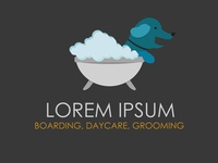 Concept of a pet daycare and grooming logo.