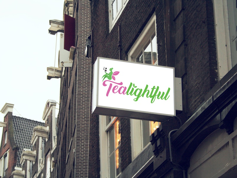 Tealightful (unofficial) branding logo illustrator graphic  design milk tea