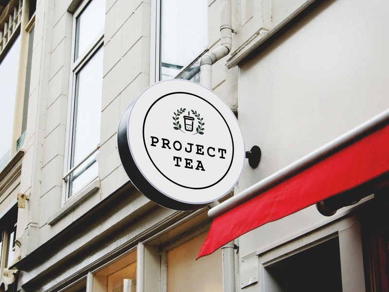 Project Tea Logo minimal milk tea branding logo design illustrator graphic  design