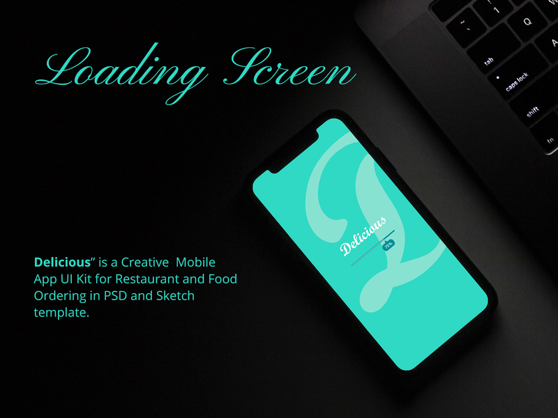 loading screen loding turquoise food app foodie food food and drink template template design restaurant app restaurants delicious bloging walkover ui design restaurant mobile ui kit mobile ui app cafe hotel iphone