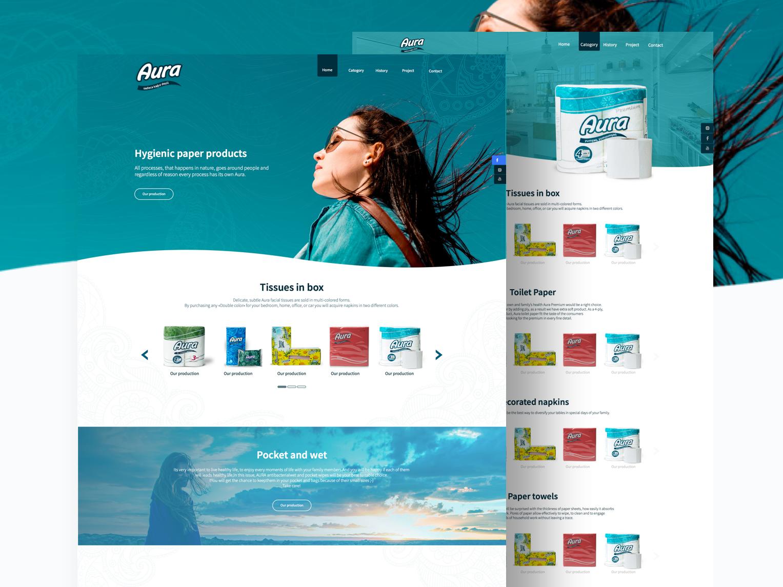 Aura tissue paper website product homepage website ux  ui ux tissue paper aura