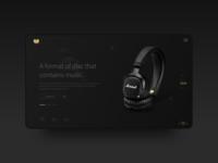 Dark UI design for music & DJ