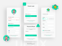 Regstration, Login UI design